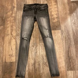 Flying Monkey Gray Distressed Skinny Jeans